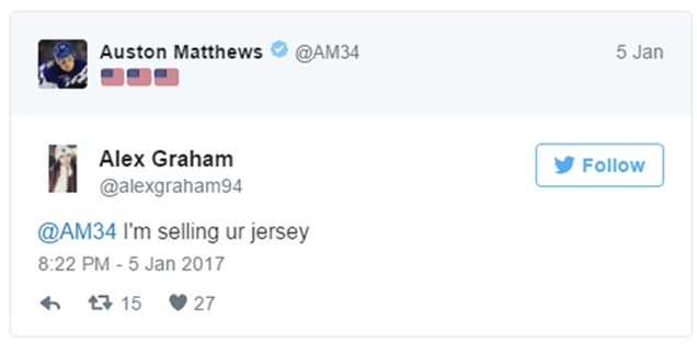 Auston Mathews Tweets