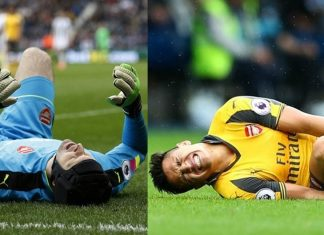 Arsenal's Alexis Sanchez and Petr Cech Injured