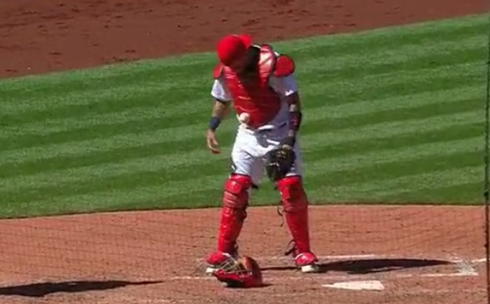 Yadier Molina Is Stuck To Baseball