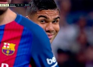 Casemiro Smile at Gerard Pique Cause Social Media Stir