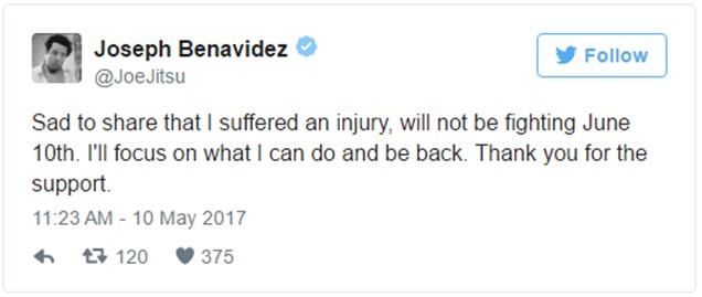 Joseph Benavidez Withdrawals From UFC 211