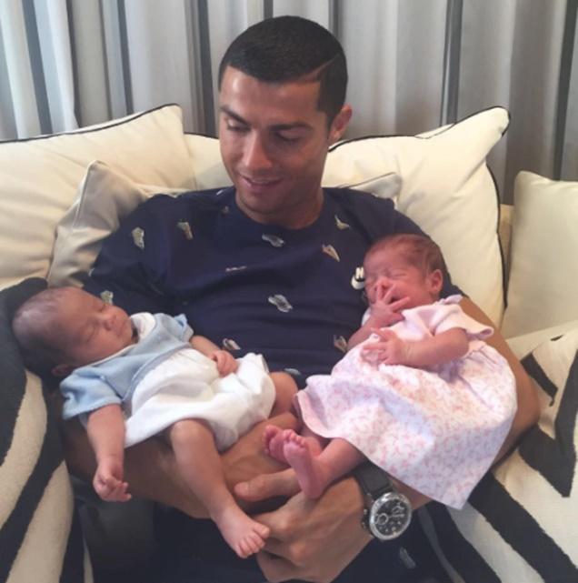 Cristiano Ronaldo Welcomes Twins
