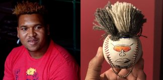 Carlos Carrasco Makes Mini Jose Ramirez Ball