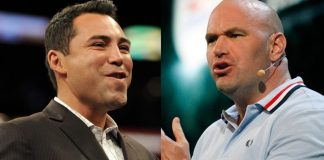 Oscar De La Hoya, Dana White Feuding Over Floyd vs Conor Fight
