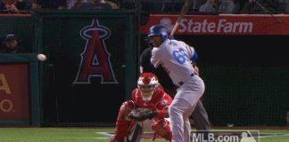 Yasiel Puig Hits Homer and Flip Bat with Attitude