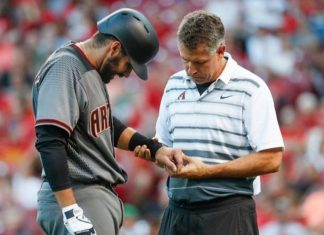 JD Martinez Injured During Diamondbacks Debut